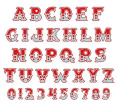 Home Format Fonts Embroidery Font: Circus Font from Hopscotch