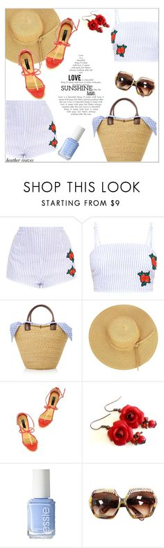 """""""Straw Bag"""" by heather-reaves ❤ liked on Polyvore featuring Muuñ and Essie"""
