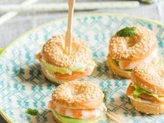Mini bagels pour l'apéritif • Hellocoton.fr
