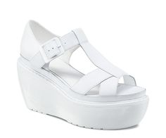 Get the must-have wedges of this season! These Dr. Martens White Adaya Cross Strap Sandal Wedges Size US 8 Regular (M, B) are a top 10 member favorite on Tradesy. Save on yours before they're sold out! Leather Wedges, Leather Boots, Leather Buckle, White Leather, Dr. Martens, White Dr Martens, Black And White Sneakers, White Sandals, Cool Boots
