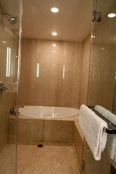 Combo shower-bathtub at the Aria hotel. Dream bathroom