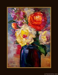 Number 98 The last few days I have been experimenting with the same flower set up but changing the color scheme. 35 minute oil painting. Some of these paintings are available at Girdwood Center for Visual Arts. As I catch up with taking photos I will share online also.  This is one my favorites #98 it was such a joy to paint.