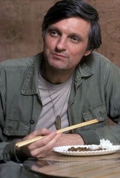 Thank God for M*A*S*H reruns. I grew up watching them, and Alan Alda as Hawkeye Pierce was my first TV crush.