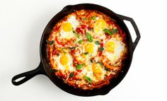 I may have already pinned this, but I'm doing it again! Portuguese Baked Eggs - Bon Appétit