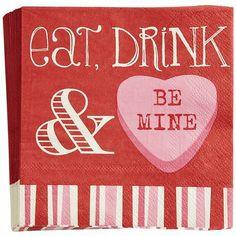 Be Mine Cocktail Napkins