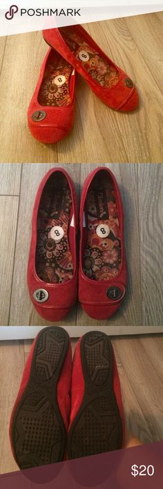 WEEKEND SALE! Red skechers corduroy flats Red skechers corduroy flats. Worn once. Excellent condition. Skechers Shoes Flats & Loafers
