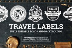 Travel Labels and Badges by wingsart on @creativemarket