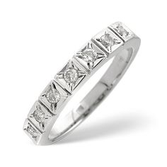 Diamond Essentials 0.25 Ct Half Eternity Diamond Ring In 9 Carat White Gold 0.25 Ct Half Eternity Diamond Ring In 9 Carat White Gold http://www.comparestoreprices.co.uk/gold-jewellery/diamond-essentials-0-25-ct-half-eternity-diamond-ring-in-9-carat-white-gold.asp