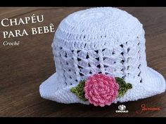 Chapéu de Crochê para Bebê | Parte 1 | Professora Simone - YouTube Sombrero A Crochet, Crochet Baby Beanie, Crochet Hat For Women, Baby Hats Knitting, Baby Girl Crochet, Knitted Hats, Bonnet Crochet, Crochet Cap, Love Crochet