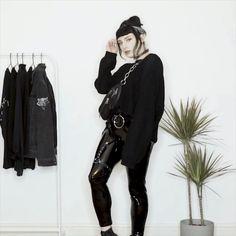 Three all black outfits Three all black outfits Grunge Outfits, Gothic Outfits, Hippie Outfits, Emo Outfits, Fashion Outfits, Dress Outfits, Hipster Grunge, Grunge Goth, Nu Goth