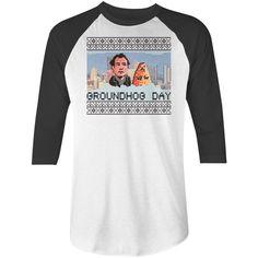 Groundhog Day Movie T-Shirt | Bill Murray 8-Bit Baseball Tee by NSNP