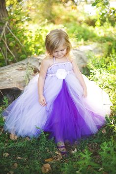 Lavender Princess Tutu Dress with Sash por littledreamersinc