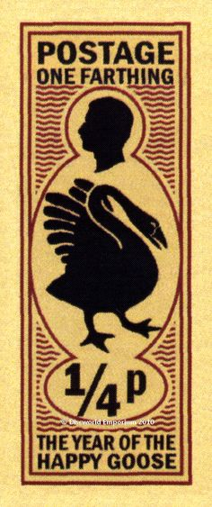 One Farthing - Year of the Happy Goose stamp