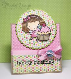 Penny Black Mimi Cupcake Card Cute Birthday Cards, Homemade Birthday Cards, Cupcake Birthday, Happy Birthday, Penny Black Cards, Penny Black Stamps, Pretty Cards, Cute Cards, Cupcake Card