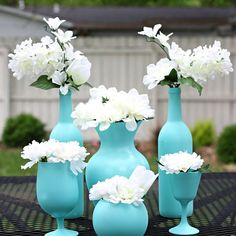 Easy, Spray Painted Centerpieces