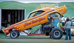 Hemi under glass rear engine funny car. #OldSchoolNHRA