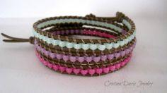 Beaded Leather Wrap Bracelet Color Pop by CristinaDavisJewelry, $35.00