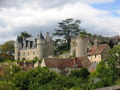 Montresor chateau overlooking the village