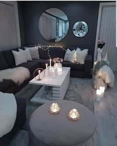 Decorate your living room with these 14 inspiring wall ideas - Block S . - Decorate your living room with these 14 inspiring wall ideas – Block Shades - Living Room Decor Cozy, Living Room Grey, Living Room Interior, Home Living Room, Living Room Designs, Bedroom Decor, Classy Living Room, Lights For Living Room, Black Living Room Furniture