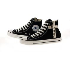 Studded Converse by CUSTOMDUO on ETSY ($92) via Polyvore