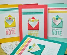 Just A Note Card Set by Melissa Bickford for Papertrey Ink (July 2014)
