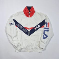 Your place to buy and sell all things handmade Fila Retro, Fila Vintage, Mode Vintage, Nike Outfits, Cool Outfits, Fashion Outfits, Fila Outfit, Retro Sportswear, Fila Jacket