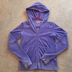 Juicy Couture sweat jacket! Worn only a few times, great condition and color, size M, originally $70, make me an offer!! Juicy Couture Jackets & Coats