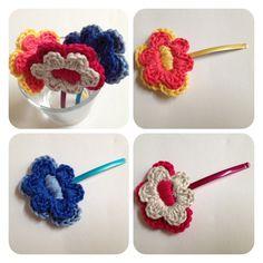 Sweet hair clip flower by SweetHandmade Crochet