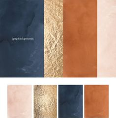 Exotica. Navy Blue & Terracotta by Lisima on @creativemarket