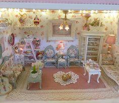 SPECCHIO Parete Vecchio Stile Casa delle Bambole arredamento Miniatures