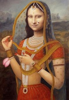 Photoshopped Indian Version of Mona Lisa