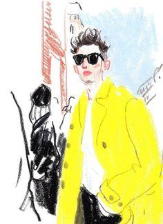 Nice Crayon Editorial Drawings by Damien Cuypers – Fubiz Media