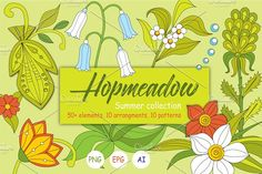 Hopmeadow. Summer collection. by Yamnuska on @creativemarket