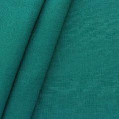100% Leinen Stoff Artikel Girona Farbe Petrol