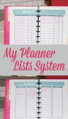 A tour of my Planner Lists System