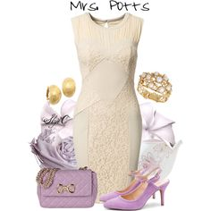 """Mrs. Potts - Disney's Beauty and the Beast"" by rubytyra on Polyvore"