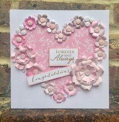 Card created using Floristry Cocoa and Cashmere Collection, made by Julie Hickey www.craftworkcards.com