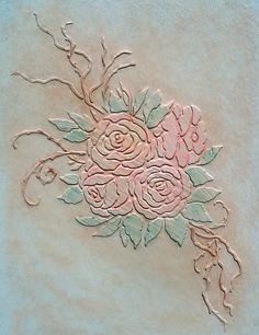 Raised Plaster Stencil Victoria's Roses by VictoriaLarsenDecor, $29.99