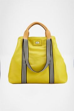 Since yellow looks horrible ON me!! :) Kaya Large Leather Bag
