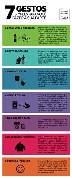 Dicas ótimas, úteis e importantes sobre reciclagem, ou, COMO ENCAMINHAR SEU LIXO.  Via: https://www.facebook.com/redeimaginanacopa