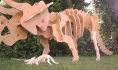 How to Make a Plywood Dinosaur Skeleton