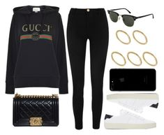 """#14103"" by vany-alvarado ❤ liked on Polyvore featuring Gucci, River Island, Yves Saint Laurent, Chanel, Topshop and Made"
