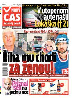 Titulky denníka Nový čas