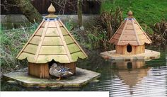 Mallard Duck House in a Pond or Lake area.