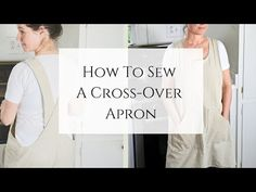 Get my FREE sewing pattern for this quick and easy cross-over apron project. Linen is great but any other fabric works well, too!