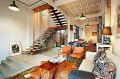 Loft-style warehoues conversion in Melbourne brings home a bit of New York!