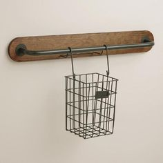 Free up valuable kitchen space with our modular wall storage cooking utensil caddy. Combine it with our short or long modular bars to create a rustic storage area that organizes a variety of cooking utensils and keeps them within easy reach. Add on other items from our collection to create a modern hanging kitchen for an incredible price.
