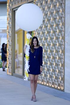 Blogger Event Attire: Charming Charlie Dress and Accessories, Steve Madden Heels Style The Girl