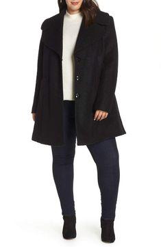 b88243df5ff kensie Oversize Collar Coat - Plus Size