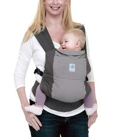 Look what I found on #zulily! Moby Wrap Gray Moby GO Carrier by Moby Wrap #zulilyfinds